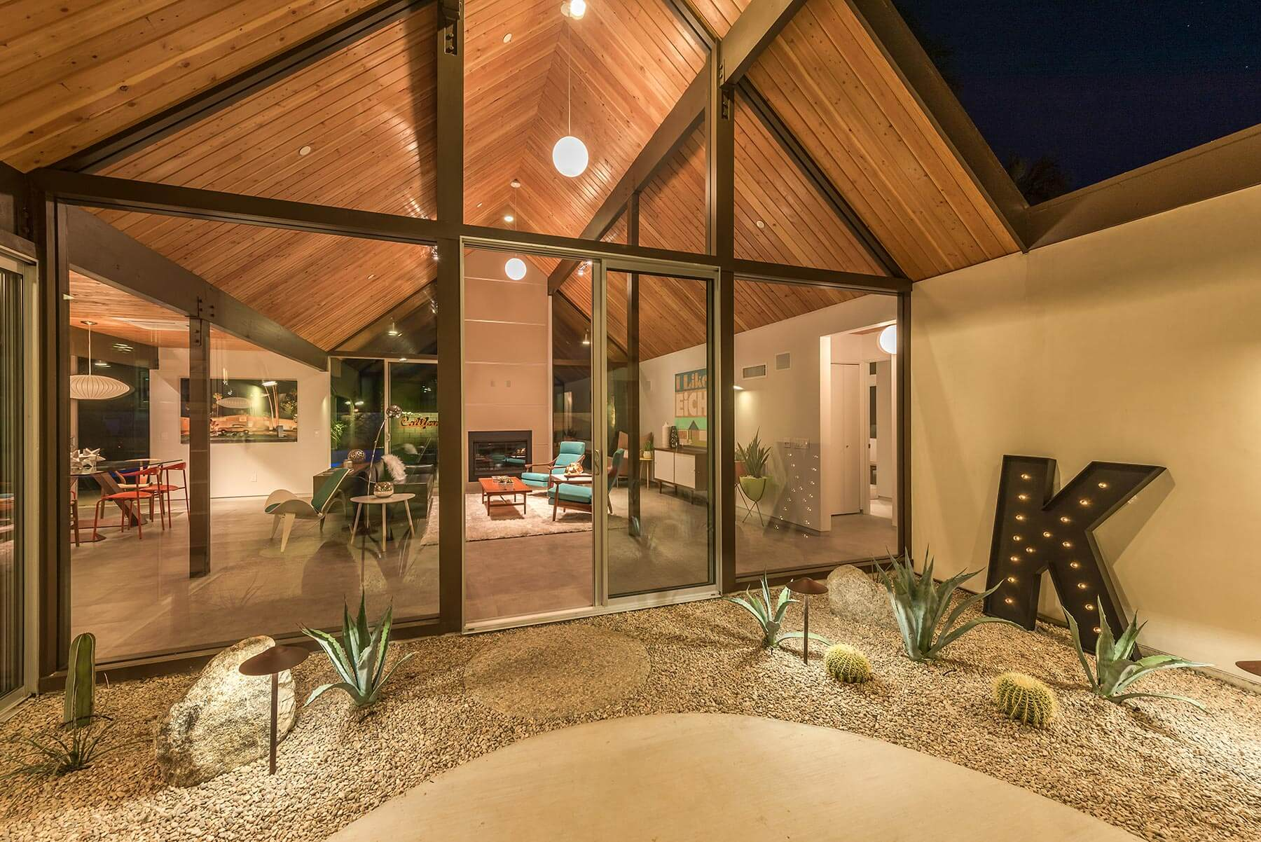 The Desert Eichler 2 Atrium at twighlight