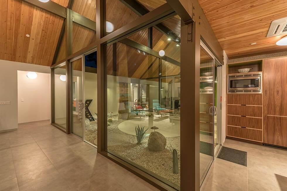 The Desert Eichler 2 Atrium from kitchen